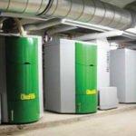 Pellet boiler / floor-mounted / industrial